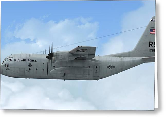 U. S. Air Force C-130 Hercules Greeting Card