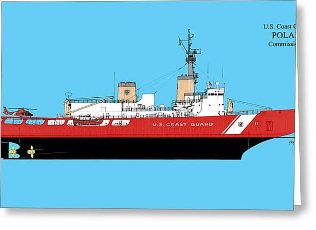 U. S. Coast Guard Cutter Polar Sea Greeting Card by Jerry McElroy - Public Domain Image