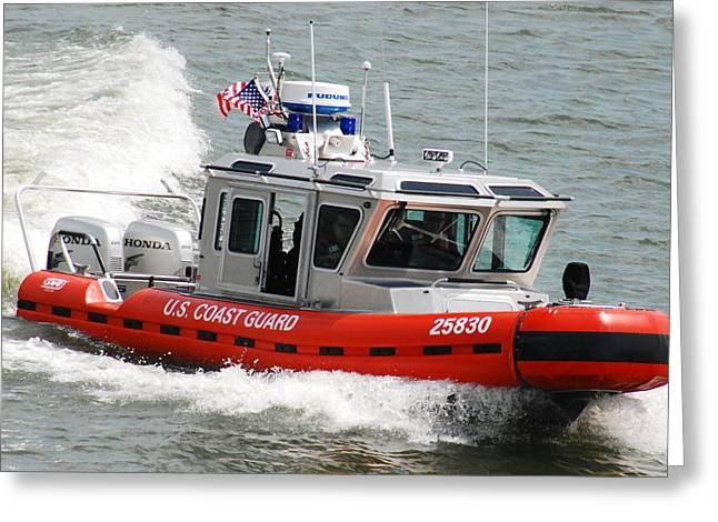U. S. Coast Guard - Speed Greeting Card by Janice Adomeit