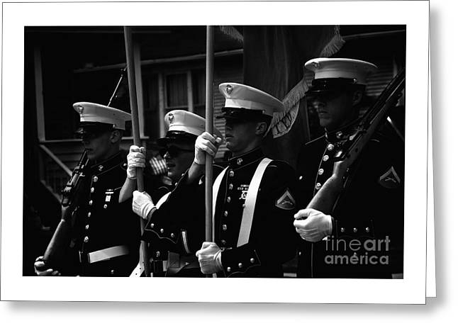 U. S. Marines - Monochrome Greeting Card