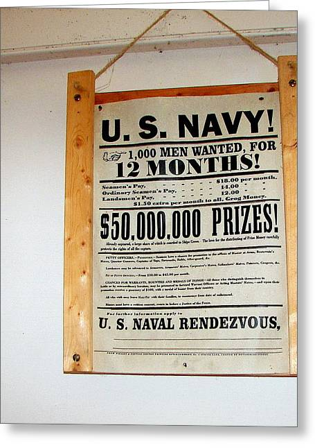 U. S. Navy Men Wanted Greeting Card