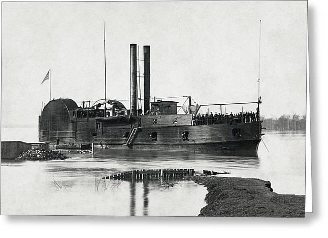 U S S Tyler Gunboat - Civil War - 1862 Greeting Card