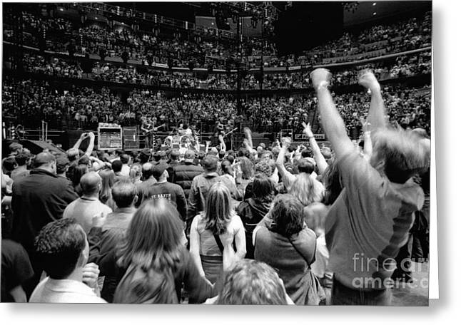 U2-crowd-gp13 Greeting Card by Timothy Bischoff