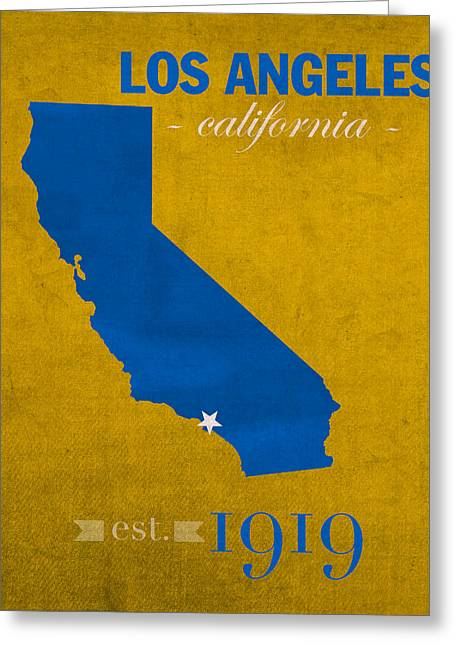 Ucla University Of California Los Angeles Bruins College Town State Map Poster Series No 026 Greeting Card by Design Turnpike