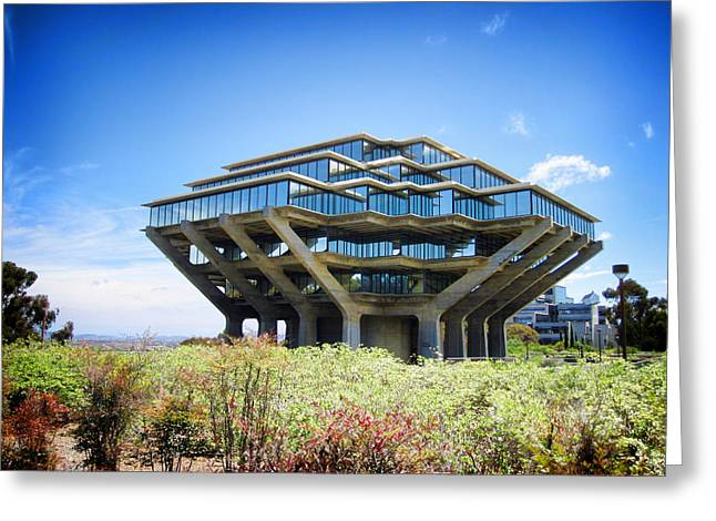 Ucsd Geisel Library Greeting Card