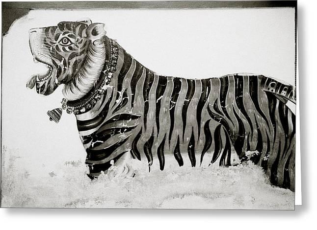 The Tiger Greeting Card by Shaun Higson