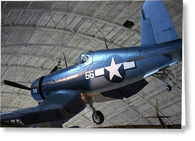 Udvar-hazy Center - Smithsonian National Air And Space Museum Annex - 121228 Greeting Card by DC Photographer