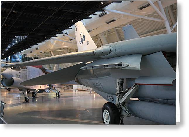 Udvar-hazy Center - Smithsonian National Air And Space Museum Annex - 121237 Greeting Card by DC Photographer