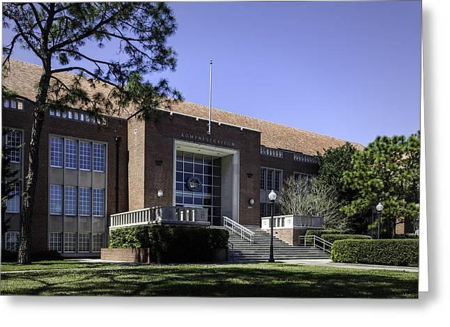 Uf Tigert Hall Administration Building Greeting Card by Lynn Palmer