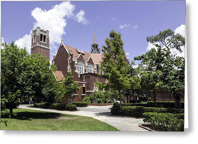 Uf University Auditorium And Century Tower Greeting Card