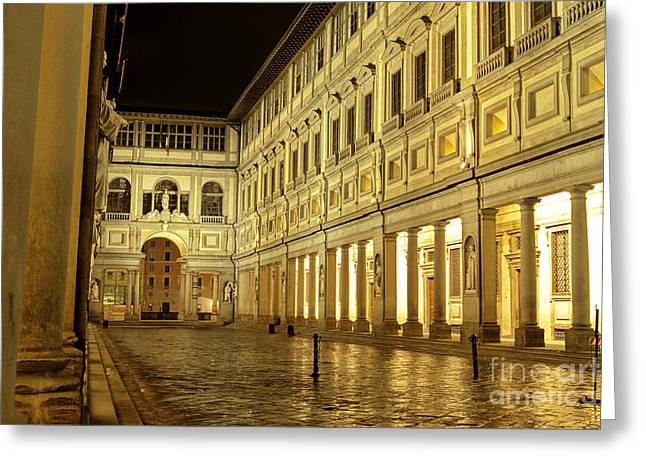 Uffizi Gallery Florence Italy Greeting Card