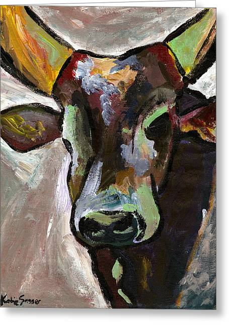 Ugandan Long Horn Cow Greeting Card