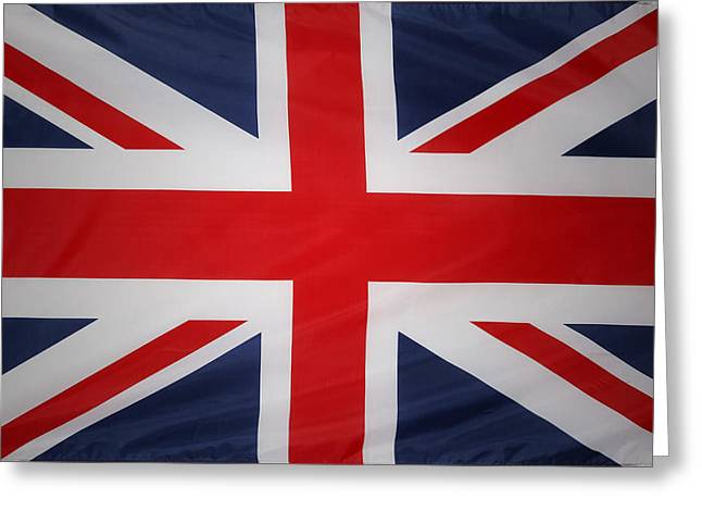Uk Flag Greeting Card by Les Cunliffe