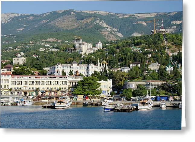 Ukraine, Yalta Black Sea View Greeting Card by Cindy Miller Hopkins