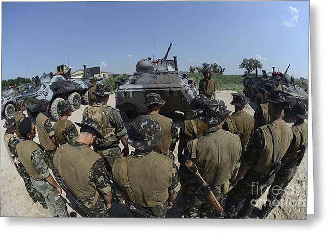 Ukrainian Amphibious Assault Teams Greeting Card