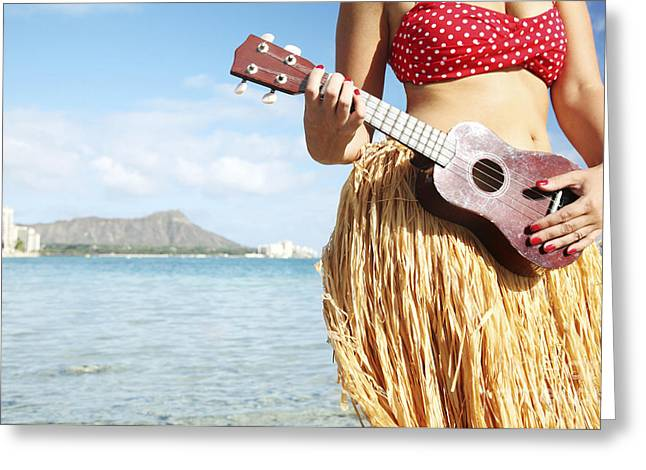 Ukulele Dancer Greeting Card
