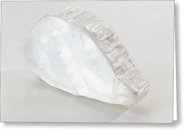 Ulexite In Crystalline Slab Greeting Card