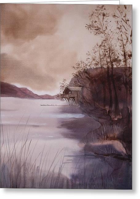 Ullswater Boathouse English Lake District  Greeting Card