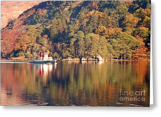 Greeting Card featuring the photograph Ullswater Steamer by Linsey Williams