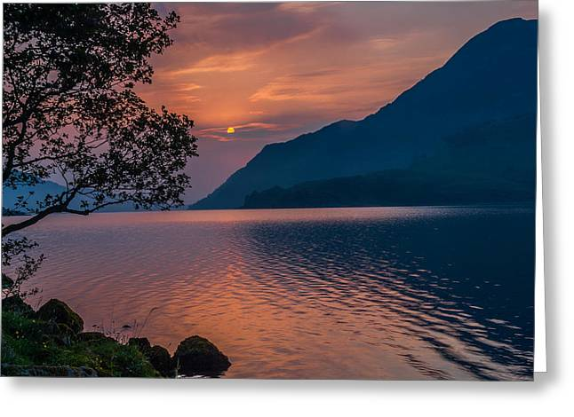 Ullswater Sunrise Lake District Greeting Card by David Ross