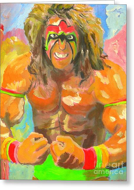 Ultimate Warrior Greeting Card by John Morris