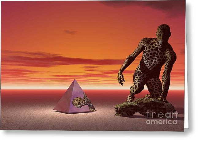 Ultimatum - Surrealism Greeting Card by Sipo Liimatainen