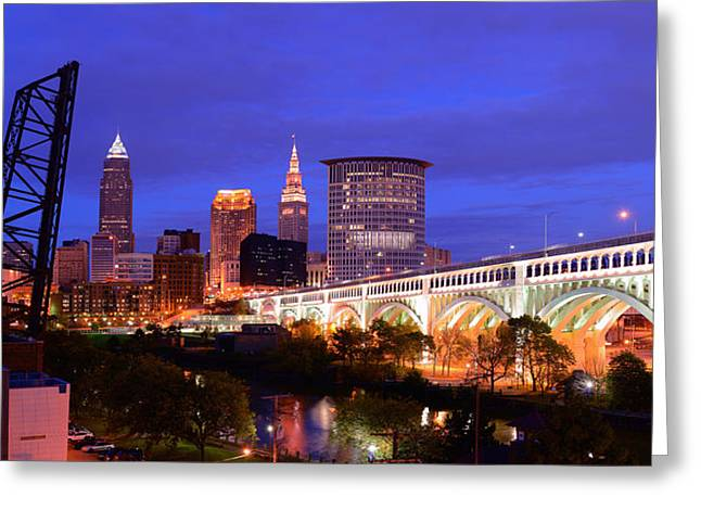 Ultra Rez Clevelands Best View Panorama  Greeting Card