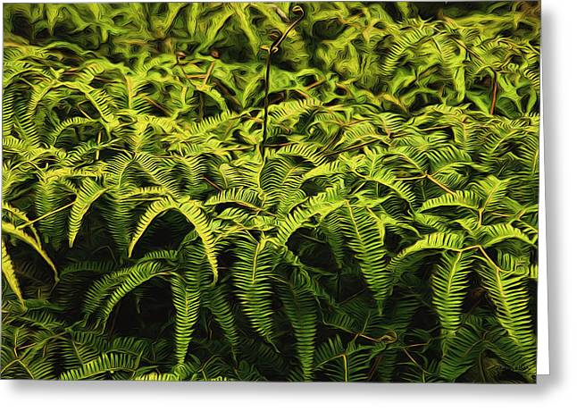 Uluhe Fern II Greeting Card
