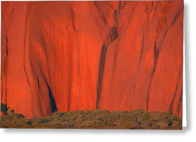 Uluru 2 Greeting Card by Evelyn Tambour