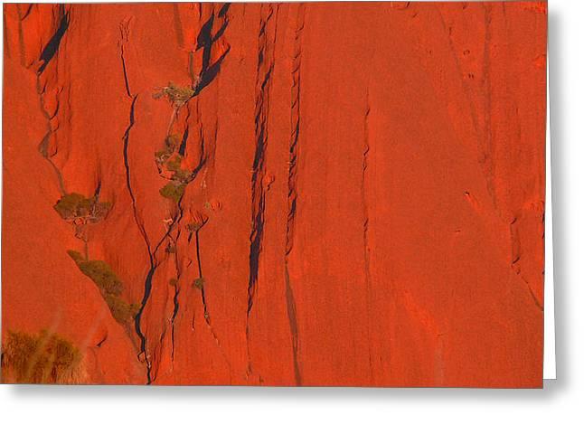 Uluru 3 Greeting Card by Evelyn Tambour