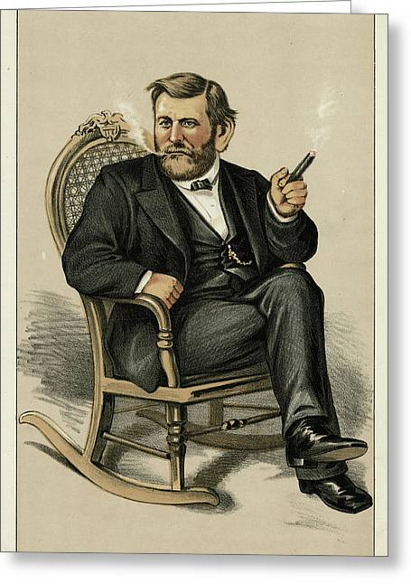 Ulysses Grant American Civil War Greeting Card by Mary Evans Picture Library