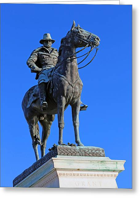 Ulysses S. Grant Guards The United States Capitol Greeting Card by Cora Wandel