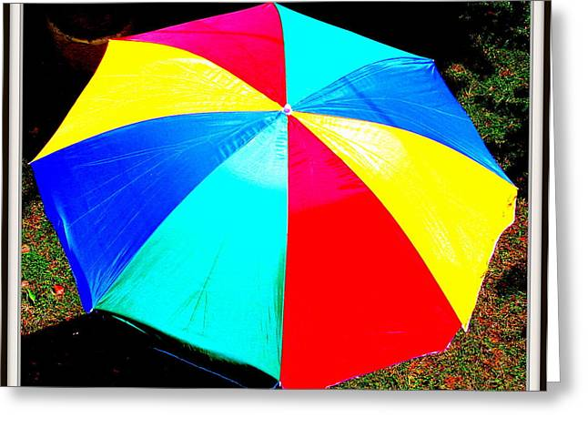 Umbrella-2 Greeting Card by Anand Swaroop Manchiraju