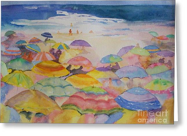 Umbrella Abstract Greeting Card