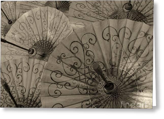 Umbrella Hand Made Beauty 1 Greeting Card