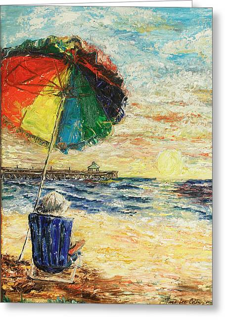 Umbrella Sunrise Greeting Card