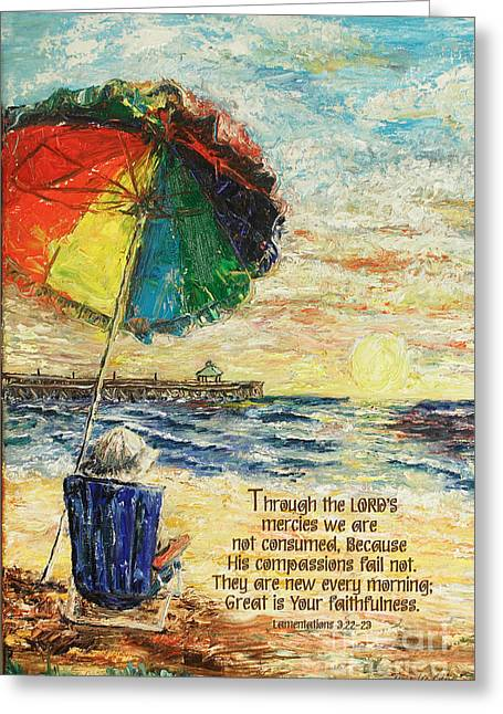 Umbrella Sunrise Lamentations 2 Greeting Card