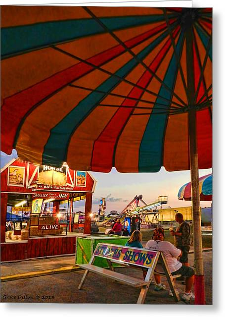 Umbrella View Greeting Card by Grace Dillon