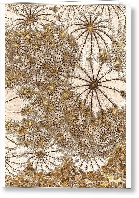 Umbrellas And Urchins Greeting Card