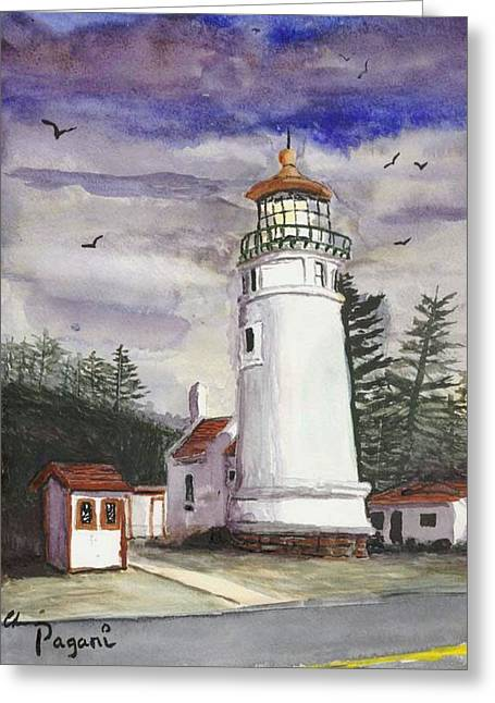 Umpqua Lighthouse Greeting Card