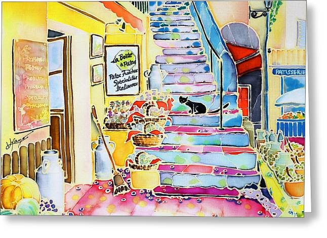 Un Coin De St-tropez Greeting Card by Hisayo Ohta