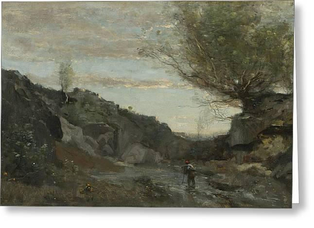 Jean baptiste camille corot greeting cards page 3 of 10 fine un torrent des abruzzes greeting card m4hsunfo