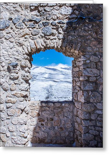 A Window On The World Greeting Card by Andrea Mazzocchetti