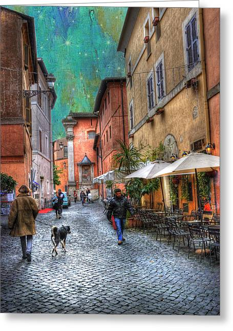 Una Notta A Roma Greeting Card by Juli Scalzi