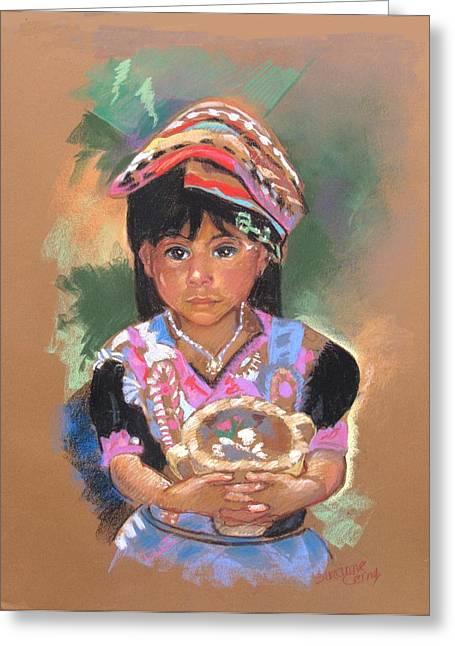 Una  Nuevo Poco Vendedor Guatemalan Greeting Card