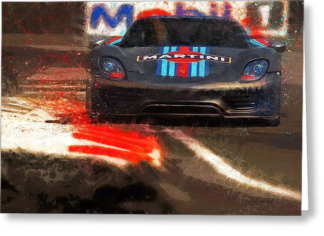 Unleashed Greeting Card by Alan Greene