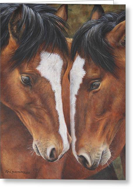 Unbridled Affection Greeting Card