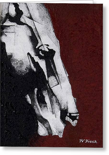 Unbridled Greeting Card by Wendell Fiock