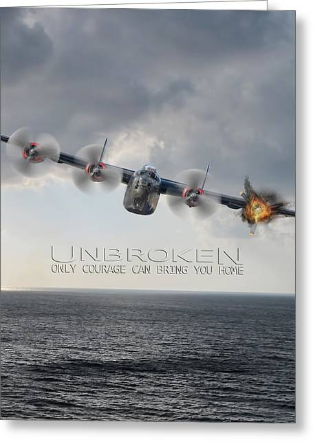 Unbroken V2 Greeting Card by Peter Chilelli