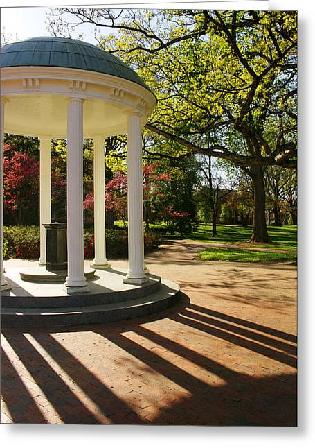 Unc-ch Old Well And Mccorkle Place Greeting Card by Orange Cat Art